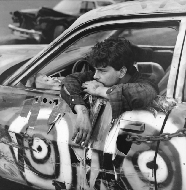 Danny Lyon, 'Demo Driver, The Wall Stadium', 1988, G. Gibson Gallery