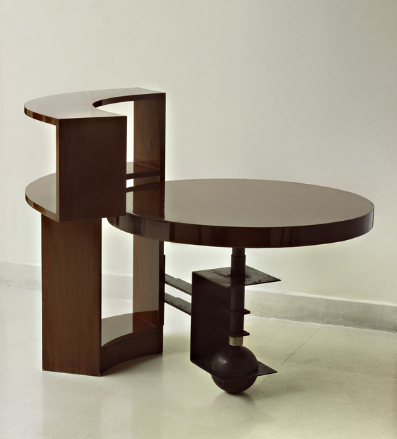 , 'Bookshelf table,' ca. 1928, Vallois SAS