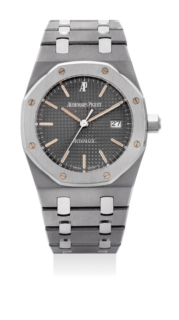 Audemars Piguet, 'A fine and rare stainless steel and tantalum automatic wristwatch with center seconds, date and bracelet', 1997, Phillips
