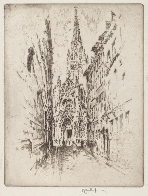 Joseph Pennell, 'San Maclou, Rouen', 1907, Print, Etching, National Gallery of Art, Washington, D.C.