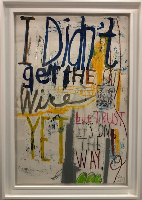 , 'I Didn't Get The Wire,' 2018, AB Gallery NY