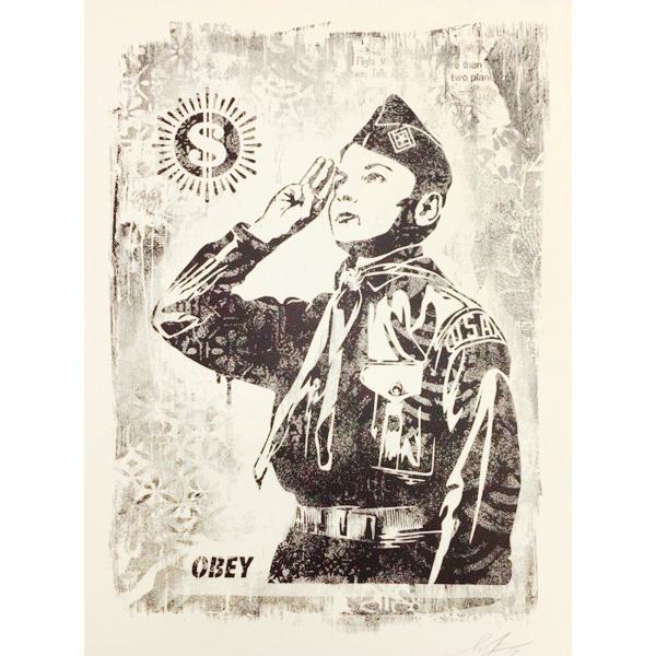 Shepard Fairey, 'Damaged Learn to Obey', 2019, AYNAC Gallery