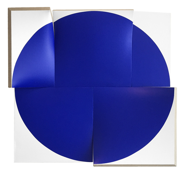 , 'Flat-Out Pointless Blue, Improved and Renewed,' 2017, Peter Blake Gallery