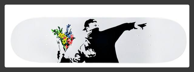 Banksy, 'Flower Thrower Deck', 2018, Alpha 137 Gallery