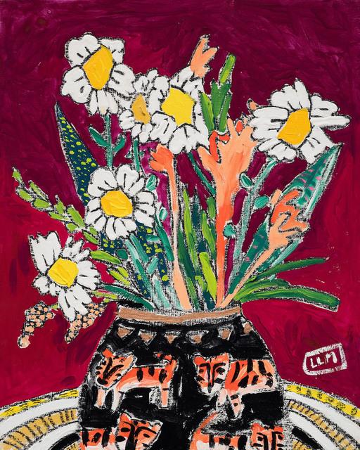 Lara Meintjes, 'Tiger Vase', 2020, Mixed Media, Gouache, marker and crayon on board, Hashimoto Contemporary