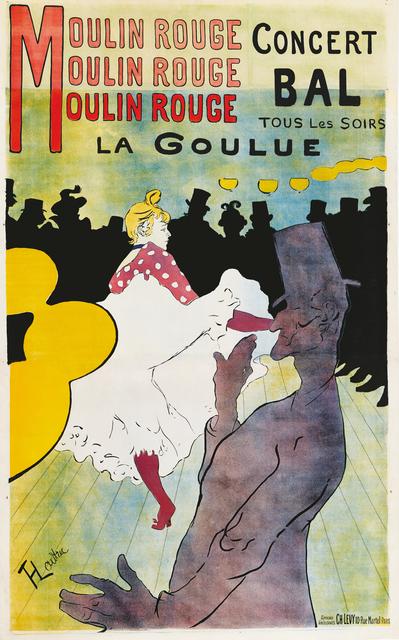 , 'Moulin Rouge – La Goulue,' 1891, Montreal Museum of Fine Arts