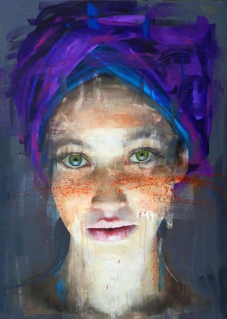 Roberta Coni, 'Matilde with Purple Turban', 2019, Galerie LeRoyer