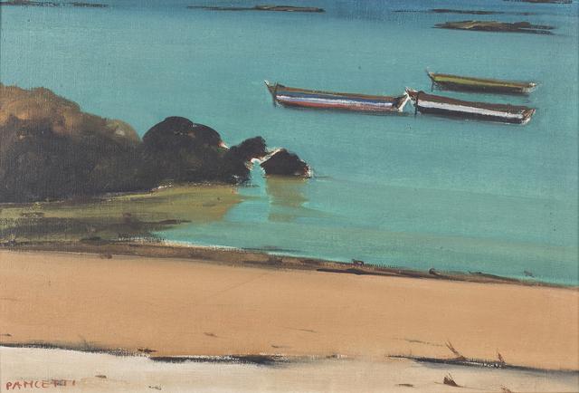 , 'Marinha com barcos,' 1956, Simões de Assis Galeria de Arte