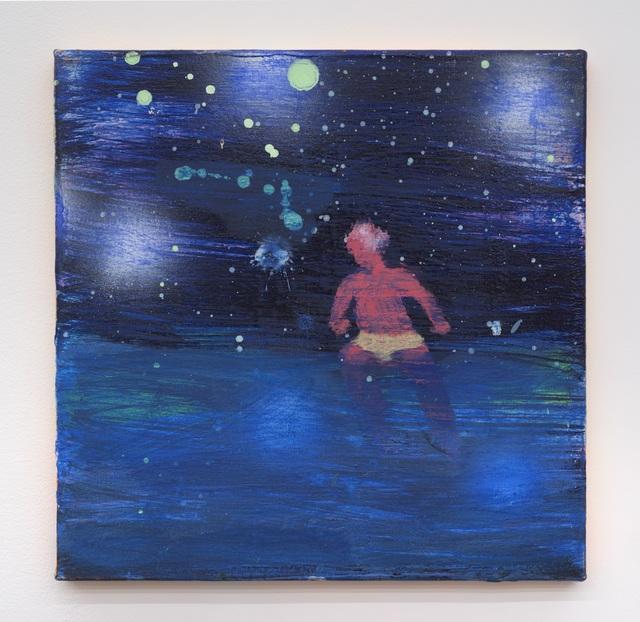 Katherine Bradford, 'Swimmer Green Moon', 2016, Bronx Museum: Benefit Auction 2018