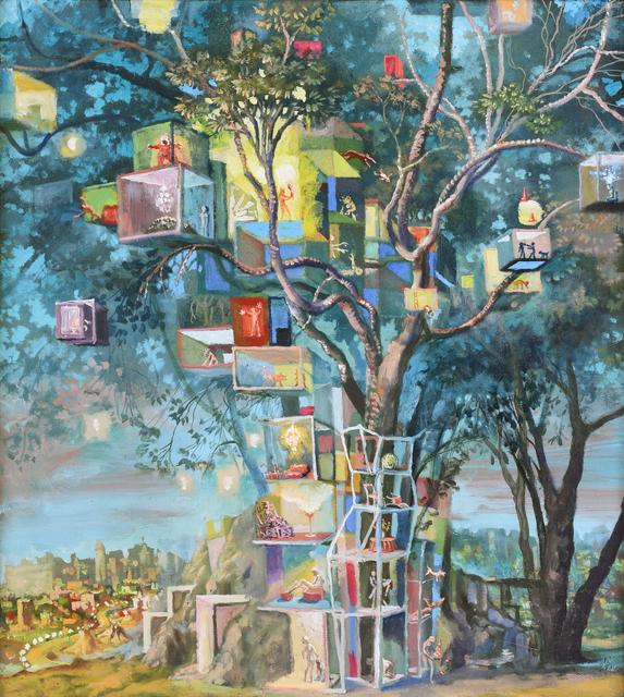 Julie Heffernan, 'Study for Self Portrait as Tree House', 2008-2012, Mark Moore Fine Art