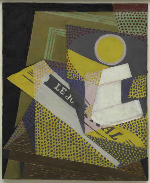 Juan Gris, 'Journal et compotier', 1916, Painting, Oil on canvas, Guggenheim Museum Bilbao