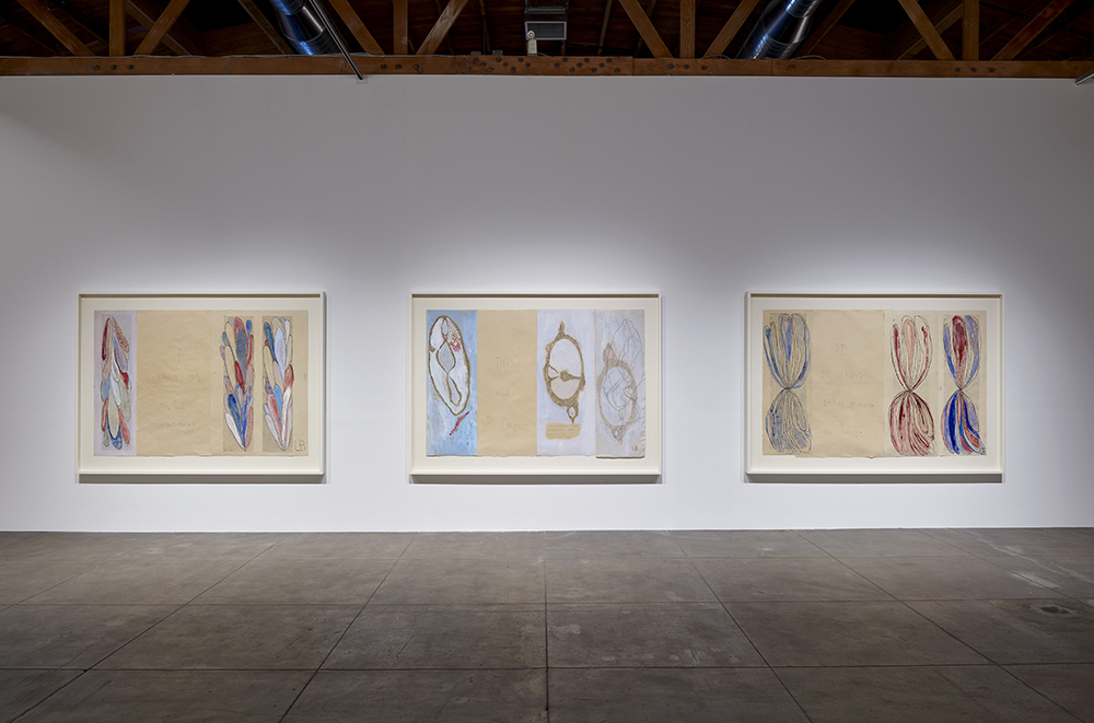 Installation view, 'Louise Bourgeois. The Red Sky,' Hauser & Wirth Los Angeles, 2018 © The Easton Foundation/VAGA, NY  Courtesy Hauser & Wirth Photo: Mario de Lopez