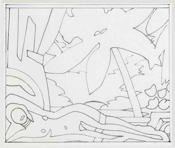 , 'Sunset nude with big palm tree (study),' 2003, David Benrimon Fine Art