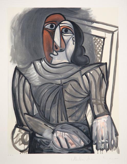 Pablo Picasso, 'Femme Assise à la Robe Grise, 1943', 1979-1982, Print, Lithograph on Arches paper, RoGallery