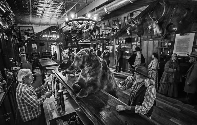 David Yarrow, 'I've Got A Good One... A Bear Walks Into A Bar', ca. 2017, Photography, Archival Pigment Print, Samuel Lynne Galleries