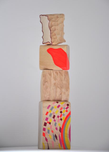 Cristina Avello, 'Flor de crecimiento VIII', 2020, Sculpture, Birch wood, pigment and acrylic, Lucia Mendoza