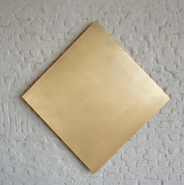 , 'Untitled (Golden Square 45° Turned),' 2015, Axel Vervoordt Gallery