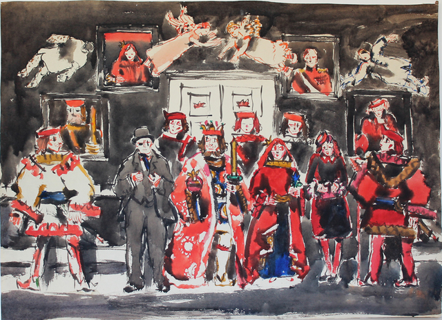David Milne (1882-1953), 'King, Queen, and Jokers IV: It's a Democratic Age', c. 22 January 1942, Mira Godard Gallery