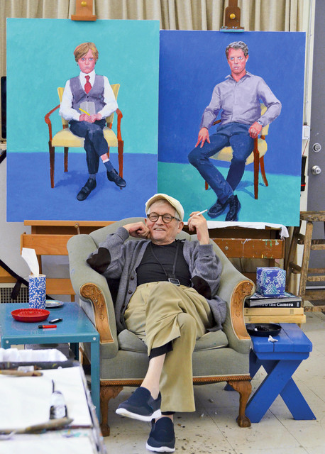 , 'David Hockney in his Studio, Los Angeles March 1st 2016,' , Guggenheim Museum Bilbao