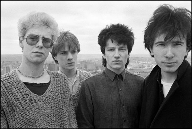David Corio, 'U2, Roof of Country Club Hotel, Cork, Ireland', 1980, Photography, Silver Gelatin, hand printed by David Corio, ElliottHalls