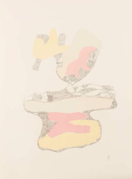 Hans Fischli, 'Spuren auf weissem grund 3', 1934-1973, Stubbs Fine Art