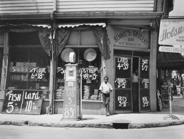 , 'Bennie's grocery store. Sylvania, Georgia,' 1939, G. Gibson Gallery