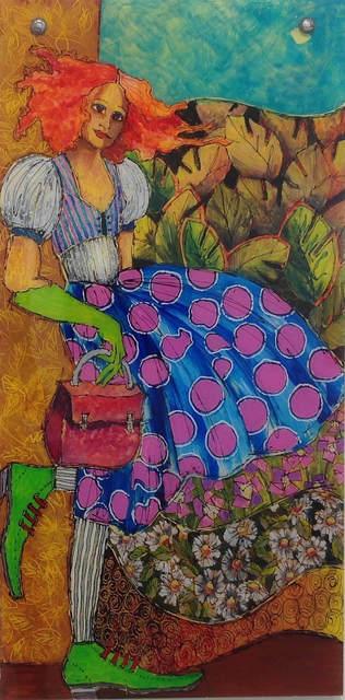 Jean Jacques Hudon, 'Les Souliers Vert', 2018, Painting, Acrylic on Plexi, Galleria Dante