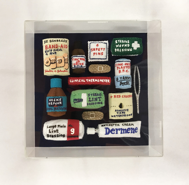 , 'Felt Aid Kit,' 2017, Lawrence Alkin Gallery