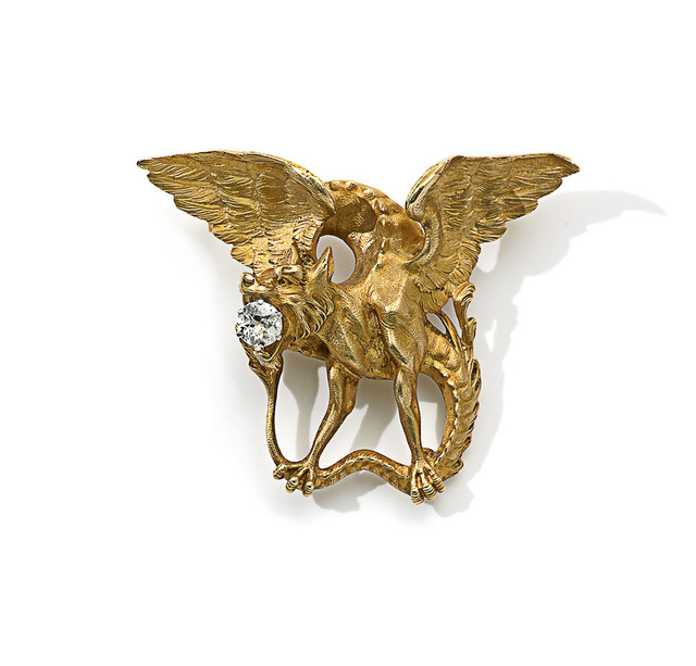 , 'Chimera Brooch in gold with diamond,' ca. 1895, Wartski