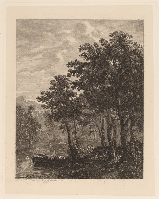 Alexandre Calame, 'Trees by a River', 1841, Print, Etching, National Gallery of Art, Washington, D.C.
