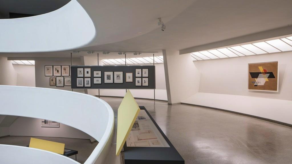 "Installation view of ""Moholy-Nagy: Future Present"" at Guggenheim Museum, New York (2016). Photo: David Heald © Solomon R. Guggenheim Foundation"