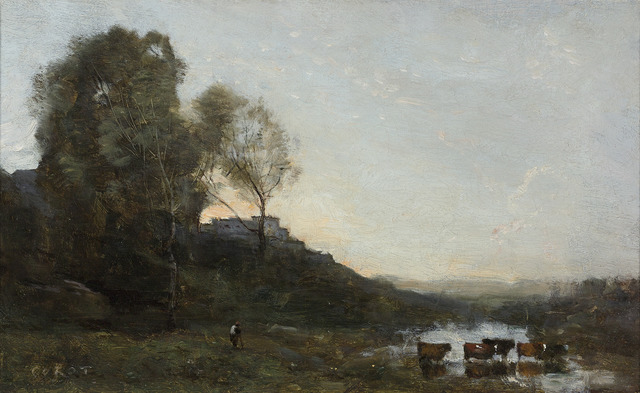 , 'Le Gué aux Cinq Vaches (The Ford with Five Cows),' ca. 1865, M.S. Rau