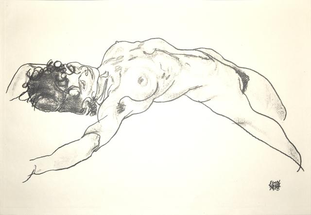 Egon Schiele, 'Lying Female Nude', 1920, Wallector