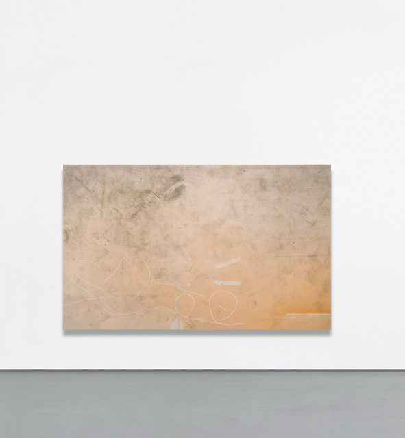 Nate Lowman, 'Dirty Dancing', 2011, Mixed Media, Oil, dirt, dental floss on canvas, Phillips