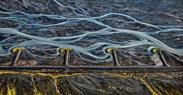 , 'Markarfljot River #3, Erosion Control, Iceland,' 2012, Von Lintel Gallery