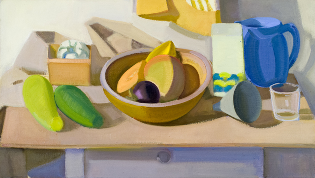 , 'Wooden Bowl with Mango, Star Fruit, Pitcher and Glass,' 2003, BCK Fine Arts Gallery at Montauk