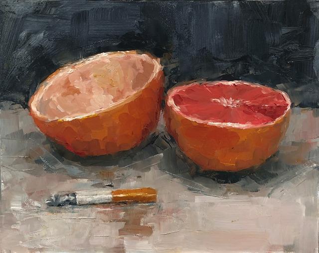 Tom Giesler, 'Health Study 7: grapefruit cigarette', 2020, Painting, Oil on panel, McVarish Gallery