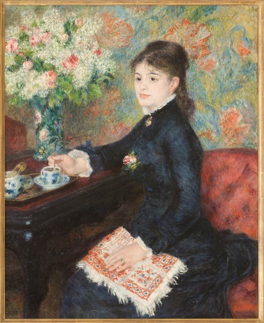 , 'The Cup of Chocolate,' about 1877-8, The National Gallery, London