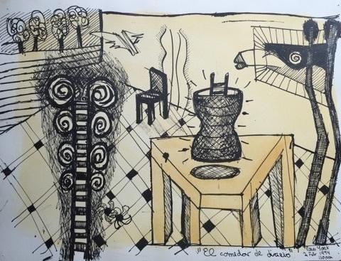 , 'El Comedor de Dirio,' 1994, Galleria Ca' d'Oro