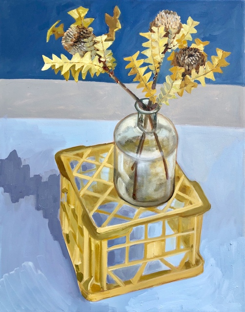 , 'Dried banksia on milk crate ,' 2018, Piermarq