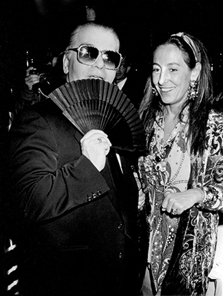 ", 'Karl Lagerfeld and Miuccia Prada, ""7th on Sale""  Benefit for AIDS, New York,' 1990, Staley-Wise Gallery"