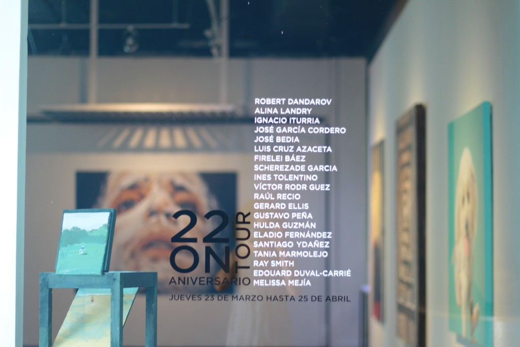 Full list of artists that were exhibited.