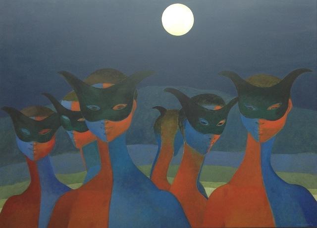 , 'Masks,' , Myriam Nader Haitian Art Gallery