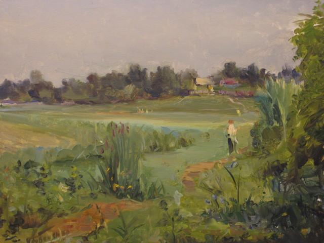 Aleksandr Nikiforovich Chervonenko, 'Little village', 1950, Surikov Foundation