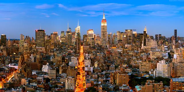 Andrew Prokos, 'Panoramic Cityscape of Manhattan at Dusk', 2017, Andrew Prokos Gallery