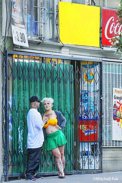 Mitchell Funk, 'Conversation in the Tenderloin, San Francisco', 2013, Robert Funk Fine Art