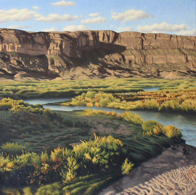 , 'Rio Grande by the Sierra Ponce Cliffs,' , Davis Gallery & Framing