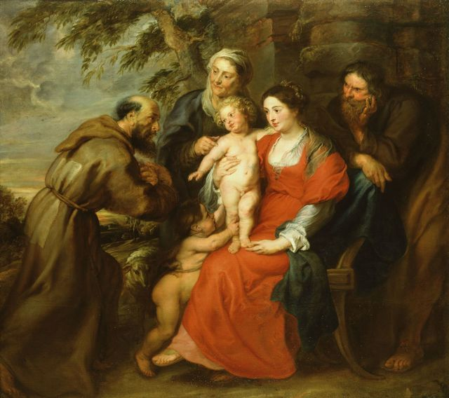 , 'The Holy Family with Saint Francis,' 1620-1630, Royal Collection Trust