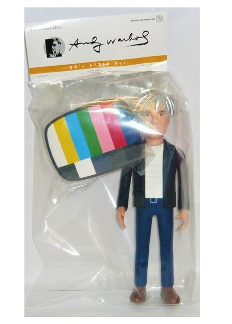 "Andy Warhol, '""Andy Warhol- 80's Style Version"", MEDICOM, PVC / Painted Figure with Original Bag, 25cm tall, 2015, manufacturer:  ', 2015, VINCE fine arts/ephemera"