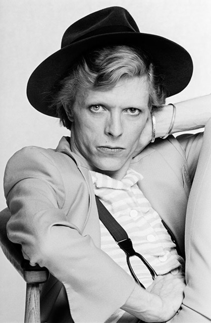 , 'David Bowie with hat on chair ,' ca. 1974, Ransom Art